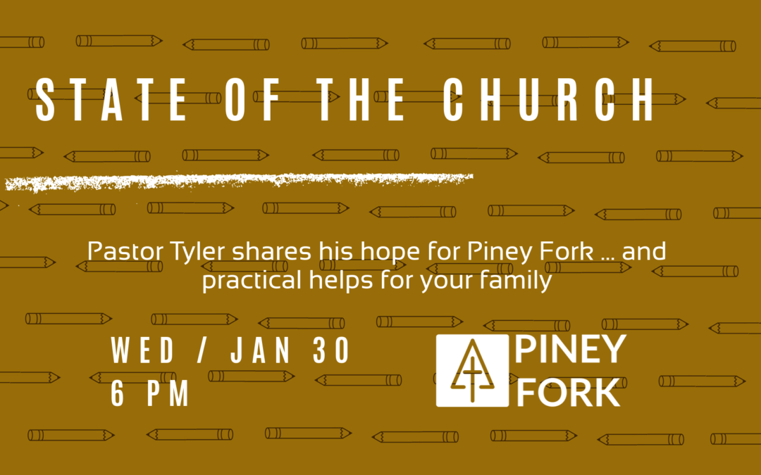 Pastor Tyler's State of the Church 2019