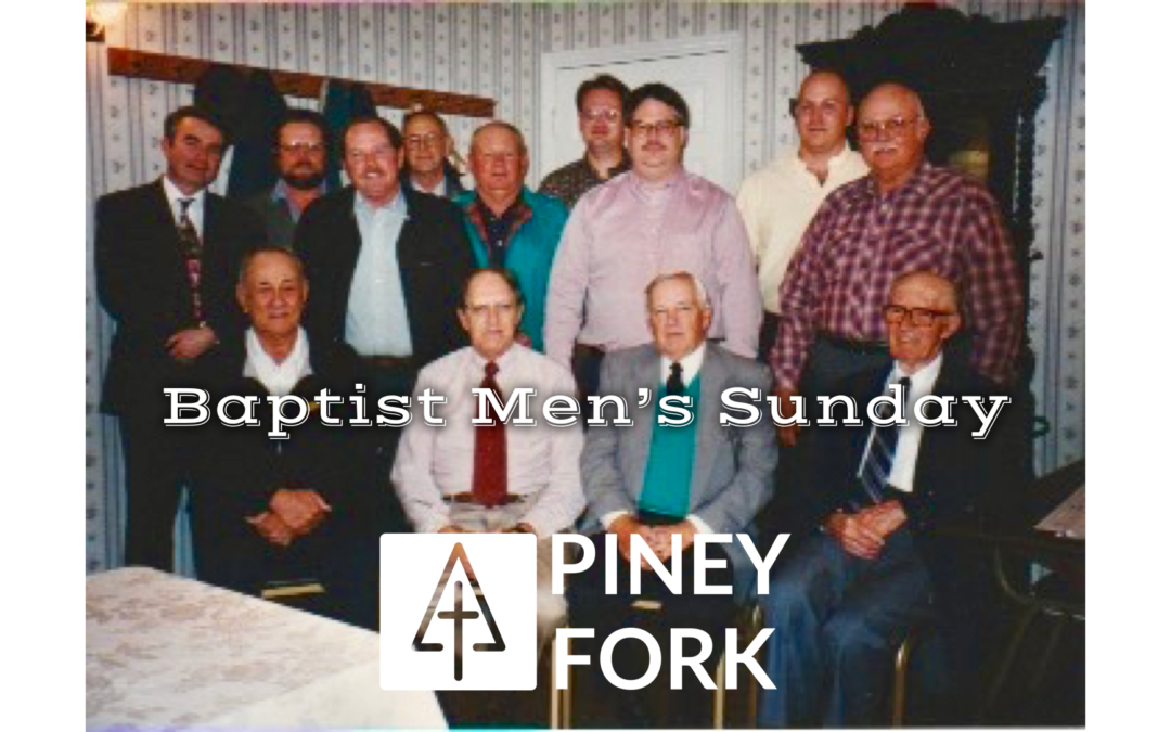 Baptist Men's Sunday 2019